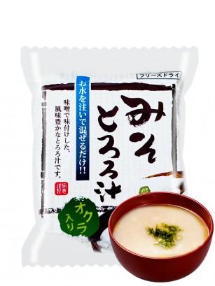 Sopa Liofilizada de Miso con Ñame y Okra | Tororo Jiru