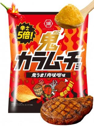 Patatas Onduladas Kokeiya de Carne con Miso Picante | Nº1 en Japón 60 grs.