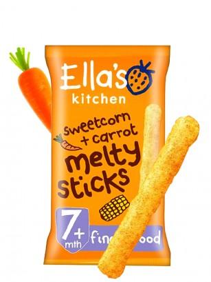 Sticks saludables de Maíz y Zanahoria | Apto para bebés | 16 gr