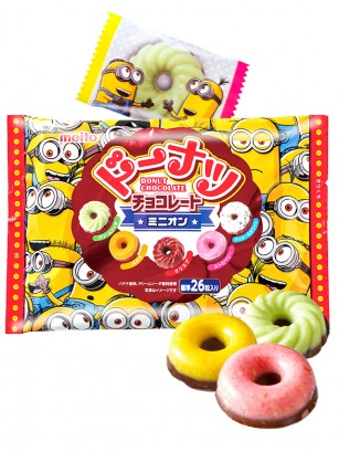 Surtido Mini Donuts Colors  Chocolate Minions 142 grs