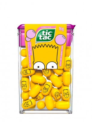 Caramelos Tic Tac Sabor Chicle | Edición Bart Simpson 49 grs