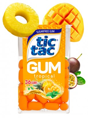 Chicles Tic Tac Sin Azúcar Frescor Tropical 28 grs