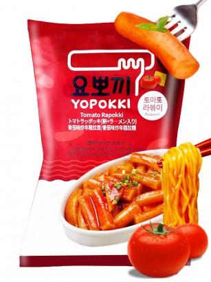 Rapokki | Mochis Coreanos Tteokbokki con Ramen y Tomate | 260 grs.