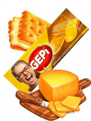 Crackers con Crema de Queso Ahumado 88 grs.