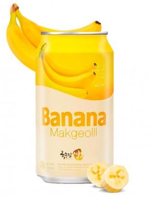 Vino de Arroz Coreano, Makgeolli con Banana | 350 ml.