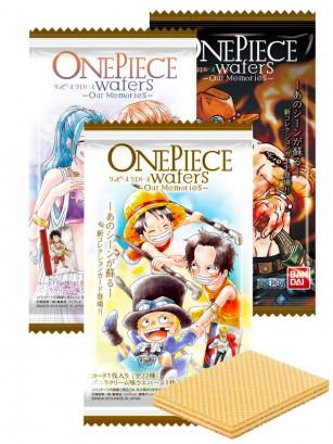 Waffers rellenos de Crema de Vainilla | One Piece | Our Memories 3 Diseños Diferentes