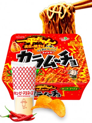 Fideos Yakisoba Matsuri Mayonnaise Picante de Chips Fritas Kokeiya 116 grs.