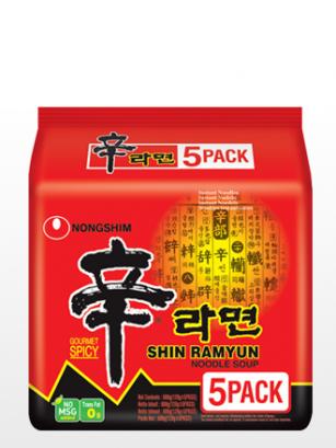 Fideos Ramen Coreanos Shinramyun | PACK 5