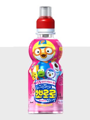 Bebida Coreana Pororo Milk Fresa