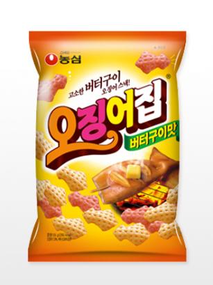 Snack Coreano de Patata con Sabor Calamar al Grill con Mantequilla | Receta Jagalchi