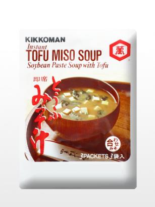 Sopa instantánea de Miso Rojo, Tofu y Alga Wakame