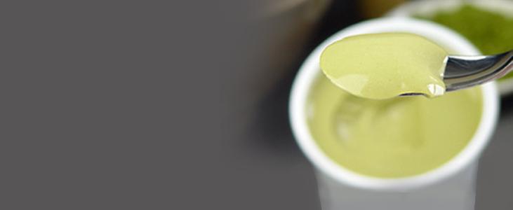 Yogurt con Matcha Azucarado ❤ Sugerencia