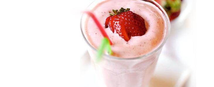 Milkshake con Fresas ❤ Sugerencia